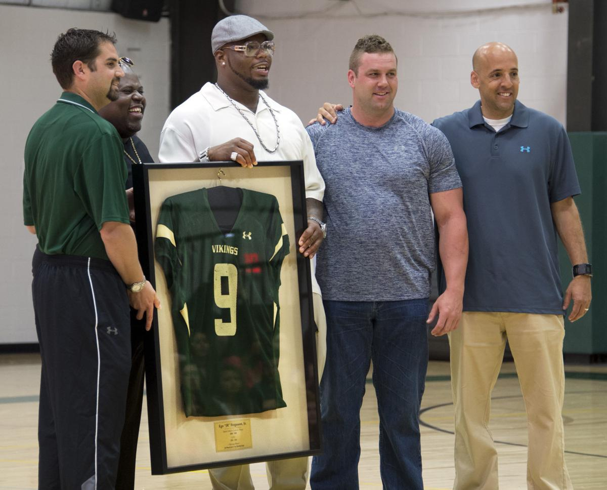 Nike NFL Mens Jerseys - Bears lineman Ferguson has jersey retired at St. John's Catholic ...