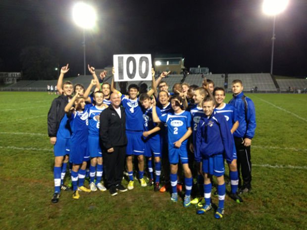 Coach Conley's 100th win