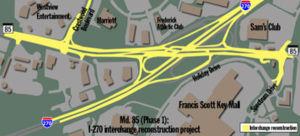 SHA discusses Md. 85, I-270 interchange plans
