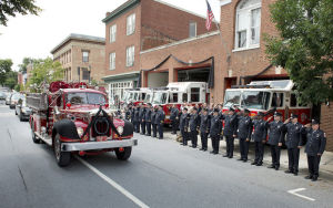 Final farewell for a firefighter