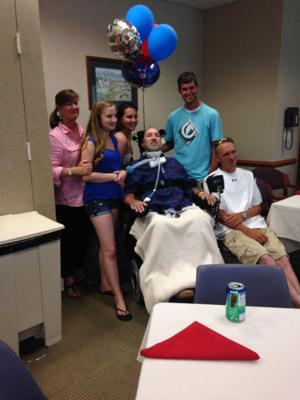 Paralyzed man given gift of freedom