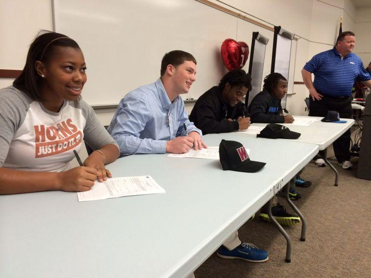 College bound athletes' big day