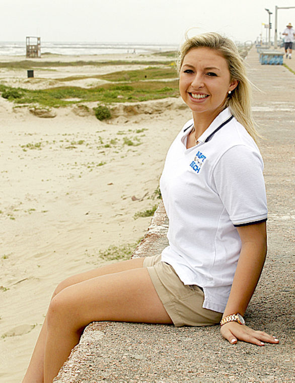 Senior takes the lead for beach cleanup