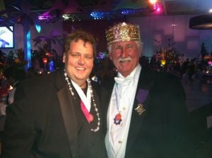 <p><span>At the 2012 at San Luis Salute with King Frivolous XCVII Johnny Listowski.</span></p>
