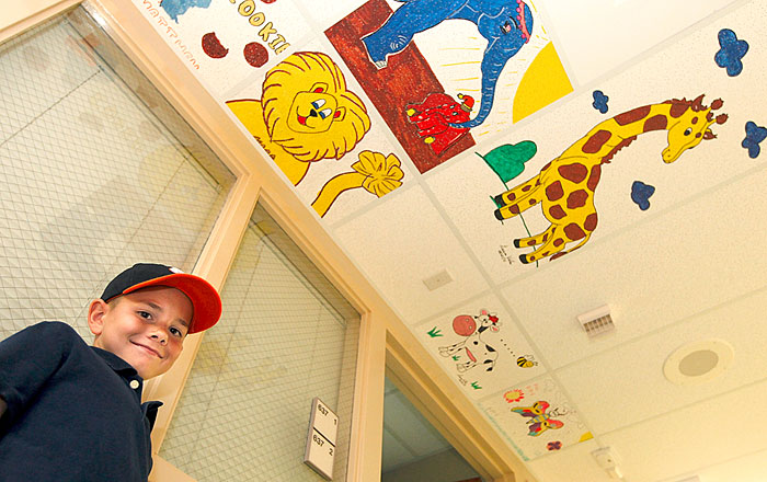 Ceiling tiles brighten stay for kids in PICU