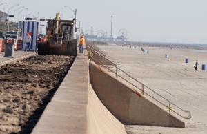 Galveston County begins work on $1.4 million project to repair seawall sidewalks