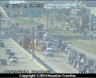 Gulf Freeway traffic in League City snarled by spill