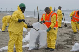 Cleanup crews work ahead of impending inclement weather