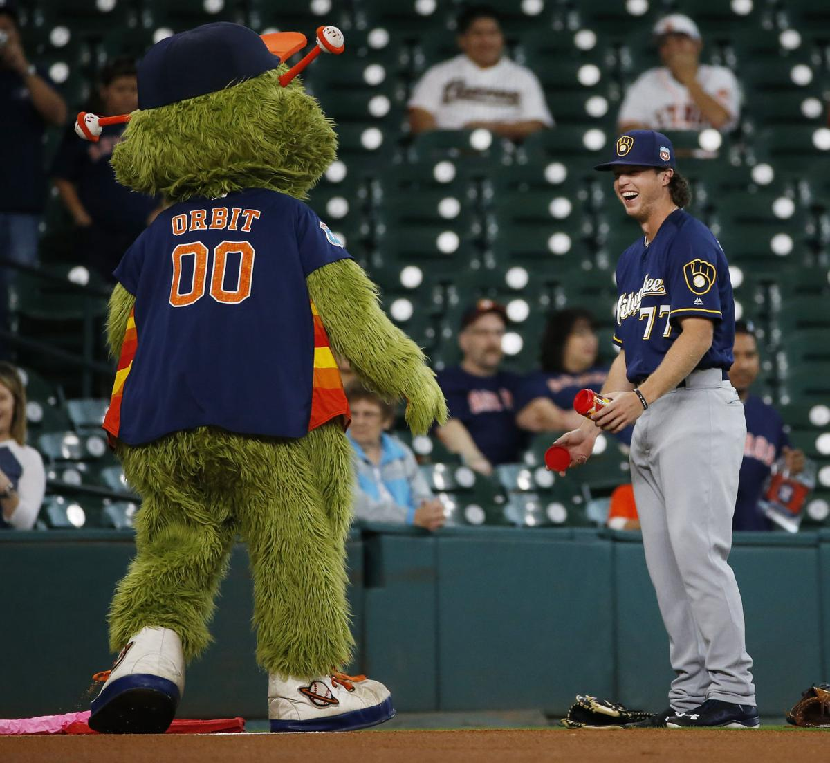 Mike Fiers Vs Houston: Photos: Astros Vs. Brewers Spring Training Finale