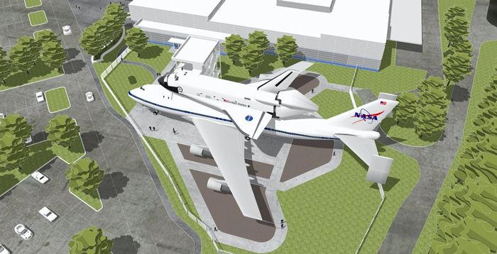 Shuttle replica
