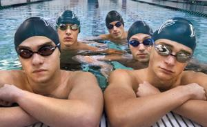 <p>Clear Falls swimmers (from left) Grant Wilson, JP Nguyen, Zach Allen, Jack Welker and Justin Ford will swim in the State Swim meet in Austin.</p>