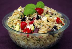 Lemony Orzo Salad