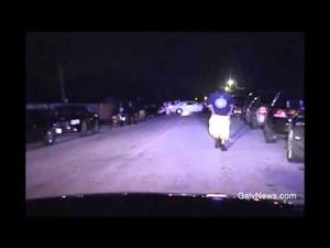 Texas City Police Shooting - Raw Ham Dashcam