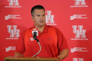 <p>Houston Cougars defensive coordinator Todd Orlando was named the team's interim head coach Saturday, Nov. 26, 2016, after Tom Herman was hired as head coach at Texas.</p>