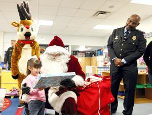Santa presents gifts