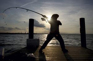 Fishing off the Texas City Dike
