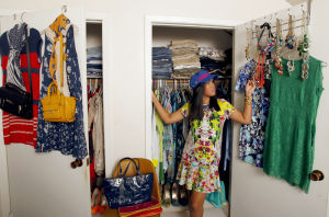 <p>Karina Tong is wild about patterns and color and has the closet to prove it.</p>