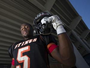 <p>Texas City High School's Zach Henry and his Stingaree teammates will take on Santa Fe High School at Stingaree Stadium in Texas City this Friday.</p>