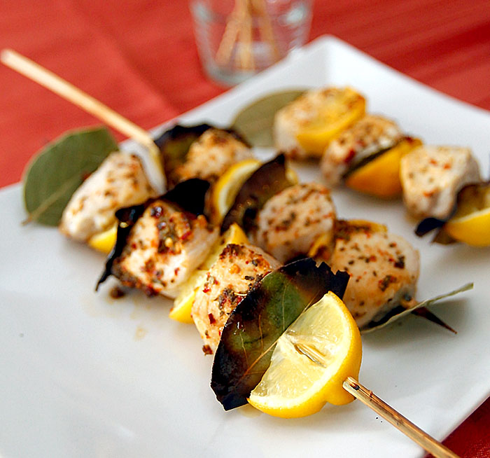 Turkey Bay Leaf Skewers