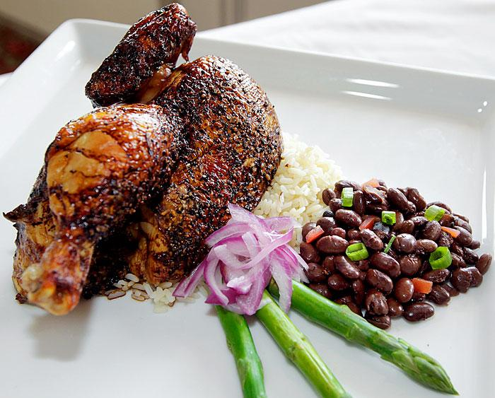 Jerked Chicken with Black Beans and Rice