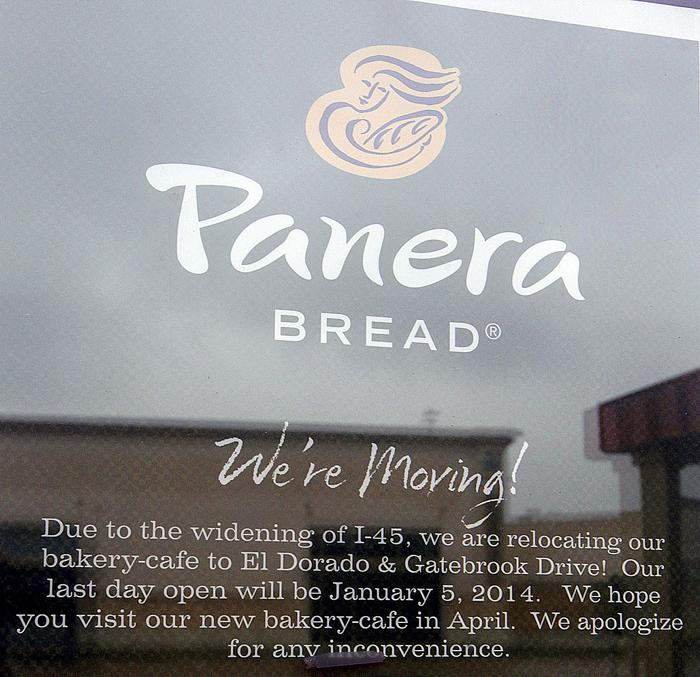 Panera Bread moving