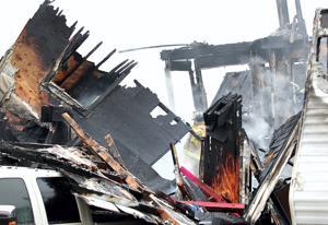 Fire destroys home