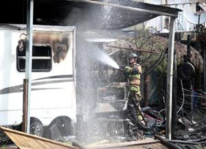 Firefighters battle structure fire in Bacliff, none injured