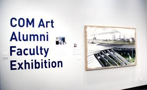 <p>A painting by James Templer, former College of the Mainland art professor, leads the COM Art Gallery's exhibition featuring art from 14 professors who taught throughout the college's 50-year history.</p>