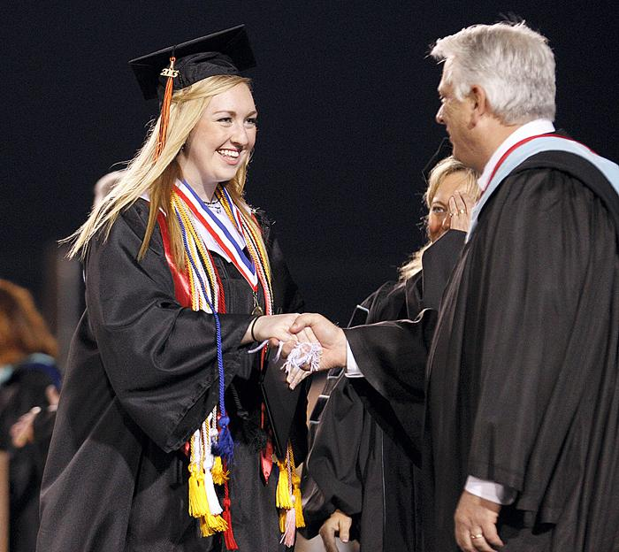 Crossing the stage