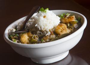 <p>Seafood gumbo at Little Daddy's Gumbo Bar features shrimp, crab and oysters.</p>