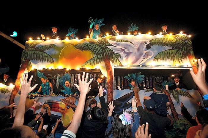 Gambrinus lights up Mardi Gras