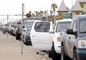 Seawall parking begins