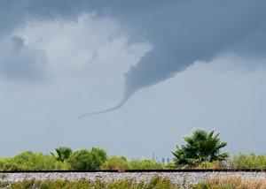 Funnel cloud in Texas City