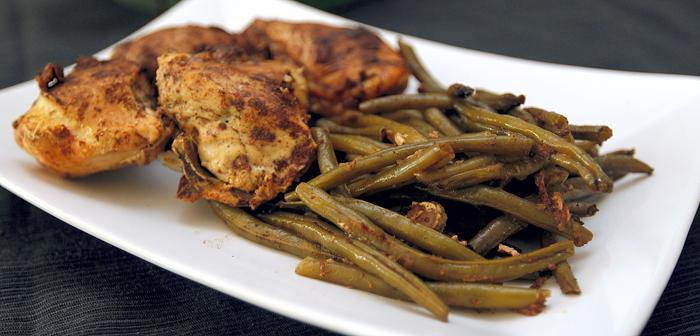 Shawarma-spiced Chicken and Green Beans