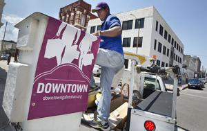 Downtown Galveston has promotional hang-up