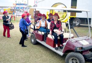 Red Hat ladies go for a ride