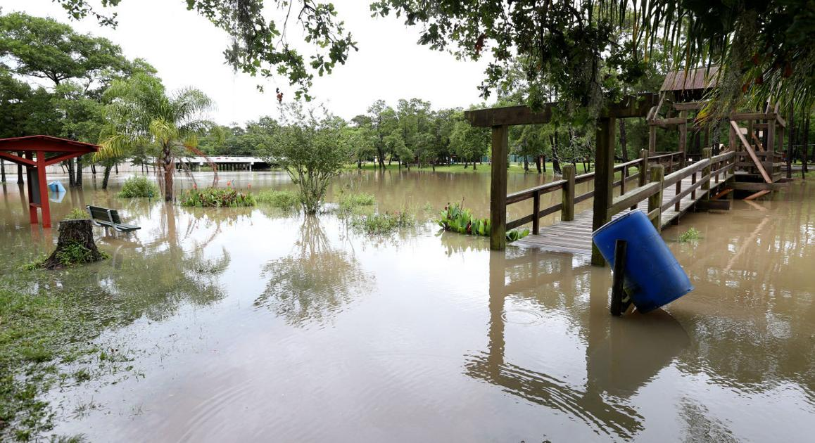 As Houston Is Severely Flooded Galveston County Largely