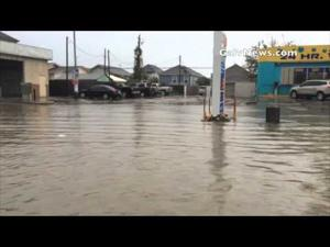 Broadway flooding in Galveston, Texas