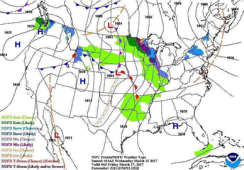 60-hour Forecast Map