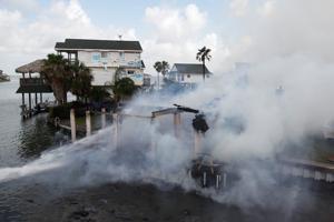 Tiki Island Fire