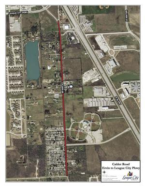 Calder Road construction map