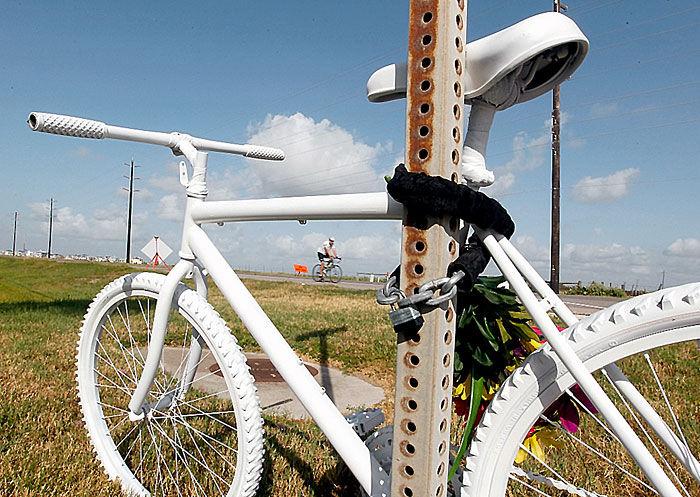 Ghost Bike on island's west end