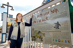 Girl Scout raises awareness about turtles, completes Gold Award Project