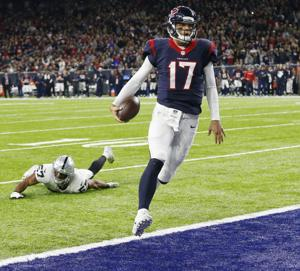 The Houston Texans defeated the Oakland Raiders 27-14 in a wildcard playoff game on Saturday.