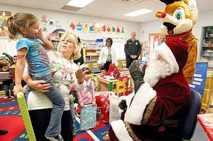 Student thanks Santa for present