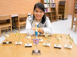 Student overcomes disability to become debate champ