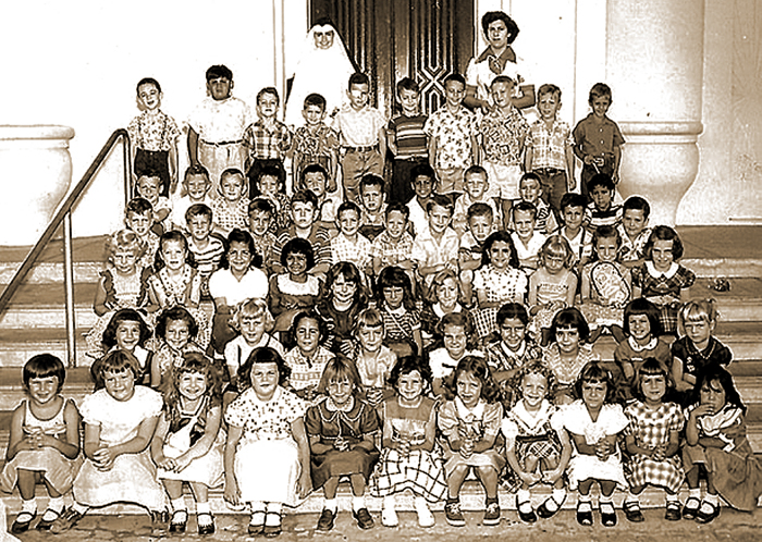 Kindergarten class that stayed in touch