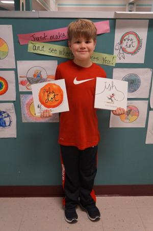 <p>Grant Carrico</p><p>Grant Carrico of Zue S. Bales Intermediate in Friendswood stands with two books by his favorite author Peter H. Reynolds. Carrico recently wrote a letter to Reynolds and received a response from the author on Twitter.</p>