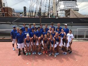 <p>The Friendswood High School tennis team posed for a picture in front of the tall ship Elissa in between matches of the 6th Annual Remembering Ike Team Tennis Classic.</p><p>Team members, left to right, are: (front row) Hannah Schmanske, Morgan Massicott, Peyton Dao, Haley Cox, Kennedy Kaufman, Mia Gonzalez, Amanda Robjohns and Priya Juarez; (middle row) Ethan Bui, Noah Smistad, Jonathan Chu, Nina Gonzalez, Johnny Luu, Alex Wachowicz, Maura Mitchell, Annie Revere, Natan Bondin, Alex Reyes and assistant coach Brittany Campbell; and (back row) head coach David Cook, Race Haas, Miles Mabry, Blake Norris, Mackie Westerfeld, Trevor Gwynne, Matthew Fuhr, Adric Christensen, Kevin Westerfeld and Cameron Norris.</p>