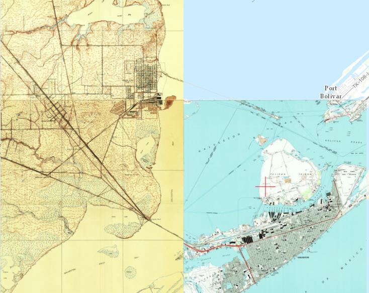 Galveston Map